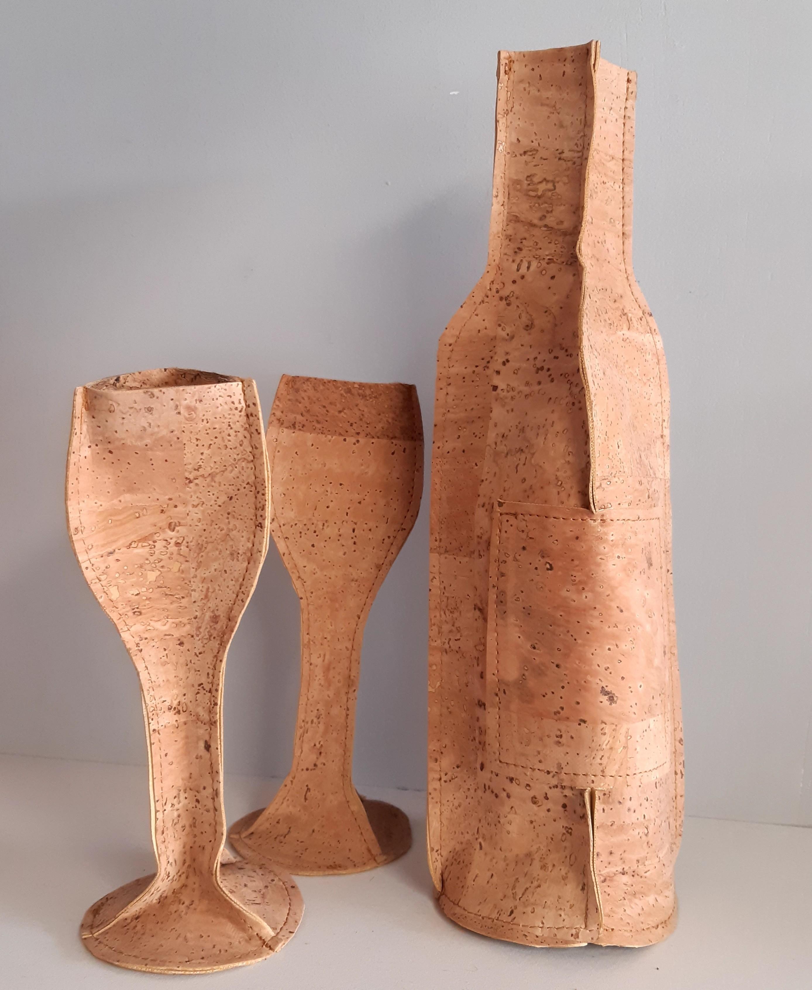 wijnset in kurk