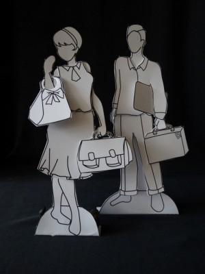bv: Aankleed poppen van Papier