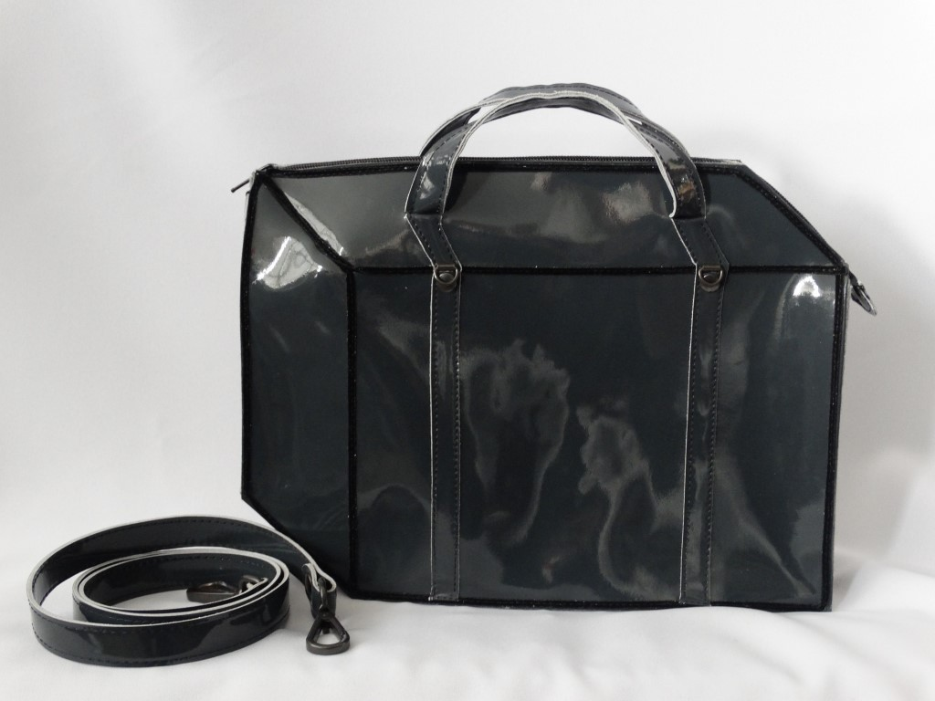 2D Candy Suitcase leather grey