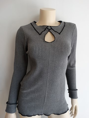 2D tricot-top grey