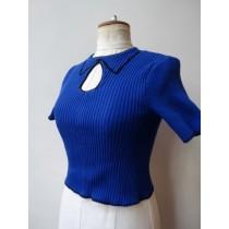 2D-Tricot-top blue