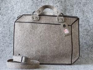 koffer vilt gemeleerd grijs